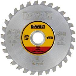 DEWALT Metallkreissägeblatt 140mm für Akku-Handkreissägen