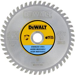 DEWALT Metallkreissägeblatt (Edelstahl) 165mm für Akku-Handkreissägen