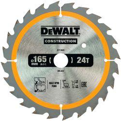 DEWALT Bau-Kreissägeblatt 165mm 24 Z für Akku-Handkreissägen