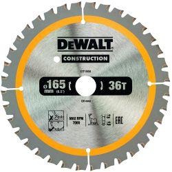 DEWALT Bau-Kreissägeblatt 165mm 36 Z für Akku-Handkreissägen